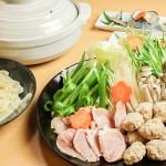 梅鶏とひねつくねの塩ちゃんこ鍋コース