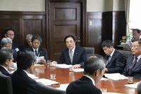 県知事へ要望する寺本会頭