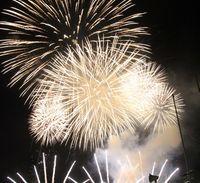 紀の川橋本SUMMERBALL2018花火の様子